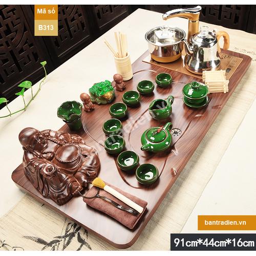Bộ bàn trà điện thông minh bằng gỗ B313