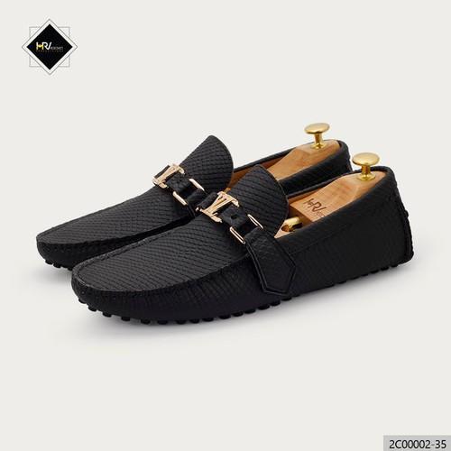 Giày da lười nam thời trang màu đen Lavantino 2C00002-35