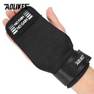 Đôi đệm tay nâng tạ - tập gym có quấn cổ tay hiệu Aolikes cao cấp - quấntaycó đệm thumbnail