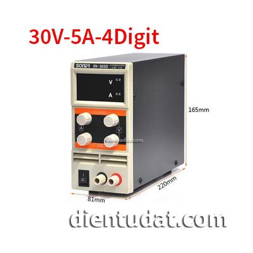 Bộ Nguồn Đa Năng SN305D 30V-5A-4 DIGIT