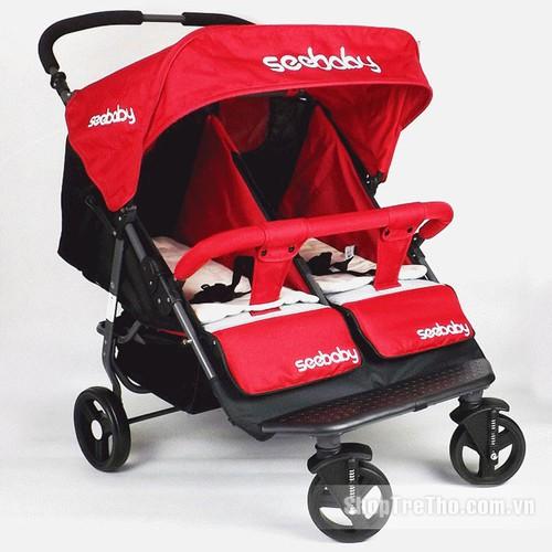 Xe đẩy đôi Sebaby T22 cho bé sinh đôi