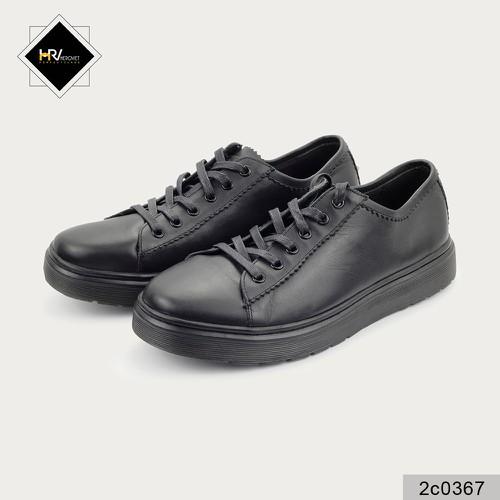 Giày đế kếp nam LVTN đen da thật LVTN 2C0367