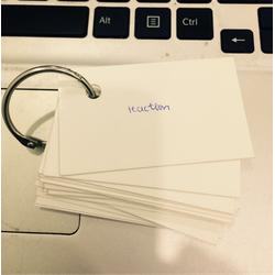 500 thẻ trắng học từ vựng giấy 300gsm tặng kèm 2 khoen không gỉ
