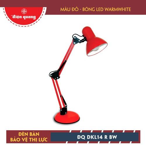 Đèn Bàn Bảo Vệ Thị Lực Điện Quang ĐQ DKL14 R BW Đỏ Bóng Led Warmwhite