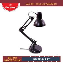 Đèn Bàn Bảo Vệ Thị Lực Điện Quang DKL14 B BW Đen Bóng Led Warmwhite