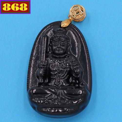 Mặt dây chuyền Phật Bất động minh vương đen  3.6cm - Hộ mệnh tuổi Dậu