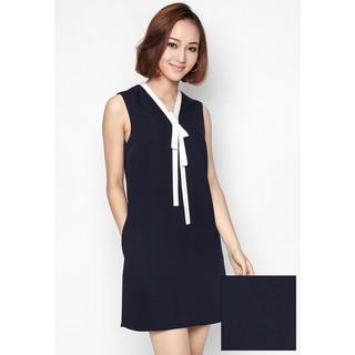De Leah - Đầm Suông Cổ Dây Nơ - Thời trang thiết kế - VL1615031Tt thumbnail
