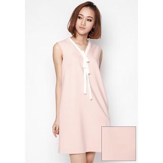 De Leah - Đầm Suông Cổ Dây Nơ - Thời trang thiết kế - VL1615031H thumbnail