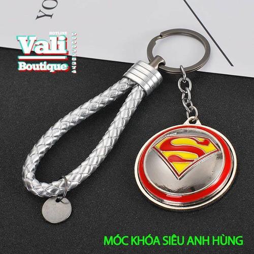 Móc khóa siêu anh hùng kèm dây - khiên SPM xám xoay