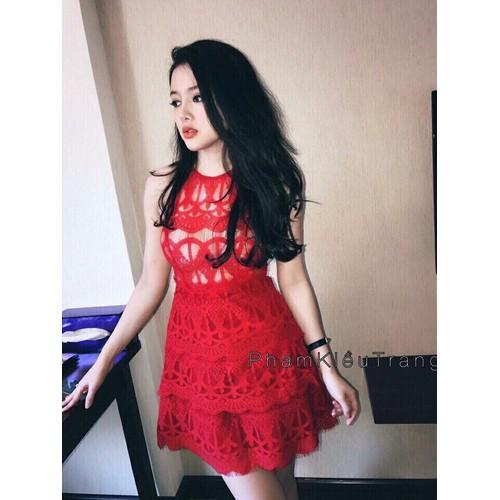Đầm ren yếm cute