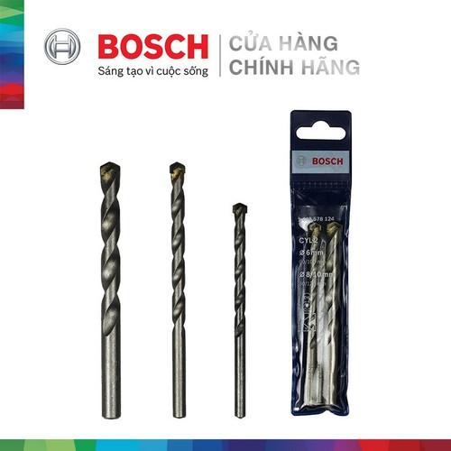 Bộ mũi khoan tường Bosch Concrete 6 - 8 - 10 2608578124
