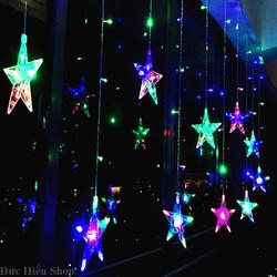 [ Hàng loại 1 ] Dây đèn chớp ngôi sao 12 sợi 138 LED, đèn chớp nháy đủ màu, đèn trang trí noel, đèn chớp tắt giáng sinh | Đức Hiếu Shop