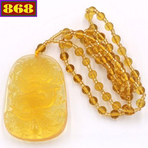 Vòng cổ tượng Rồng Pha lê vàng DTRV15