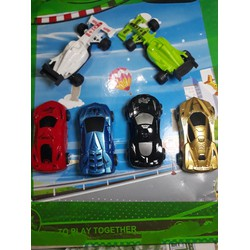 Bộ 6 ô tô xe đua chạy trớn