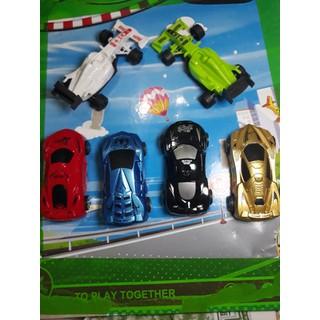 Bộ 6 ô tô xe đua chạy trớn - gd513 thumbnail