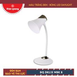 Đèn Bàn Bảo Vệ Thị Lực ĐQ DKL15 WBK B TrắngĐen Bóng Led Daylight
