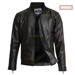 Áo khoác da lót lông nam thời trang cao cấp AD021NAU