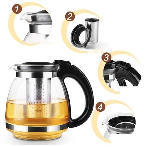 ấm pha trà thuỷ tinh- bình pha trà thuỷ tinh
