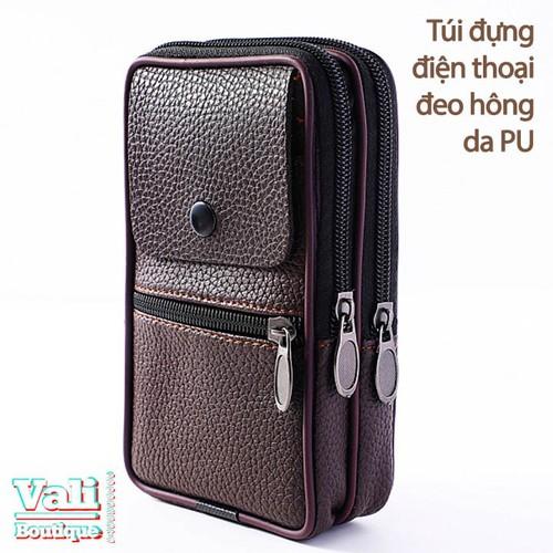 Túi đeo ngang hông đựng điện thoại da PU dành cho nam dạng dọc - nâu - 5534796 , 11938440 , 15_11938440 , 120000 , Tui-deo-ngang-hong-dung-dien-thoai-da-PU-danh-cho-nam-dang-doc-nau-15_11938440 , sendo.vn , Túi đeo ngang hông đựng điện thoại da PU dành cho nam dạng dọc - nâu