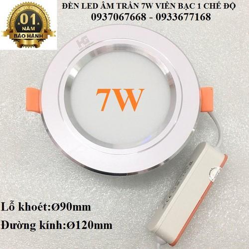 ĐÈN LED ÂM TRẦN 7W VIỀN BẠC 1 CHẾ ĐỘ SÁNG TRẮNG - ĐÈN LED ÂM TRẦN - 5539116 , 11943679 , 15_11943679 , 50000 , DEN-LED-AM-TRAN-7W-VIEN-BAC-1-CHE-DO-SANG-TRANG-DEN-LED-AM-TRAN-15_11943679 , sendo.vn , ĐÈN LED ÂM TRẦN 7W VIỀN BẠC 1 CHẾ ĐỘ SÁNG TRẮNG - ĐÈN LED ÂM TRẦN