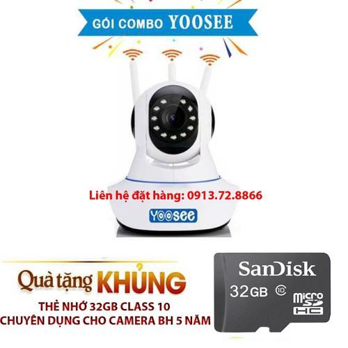 Combo Camera Yoosee 3 Angten và Thẻ Nhớ 32G