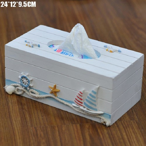 Hộp đựng giấy phong cách Coastal biển cả