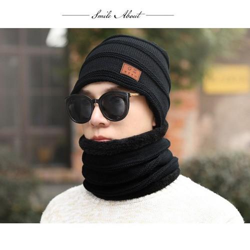 Combo Mũ len + khăn lót bông nam