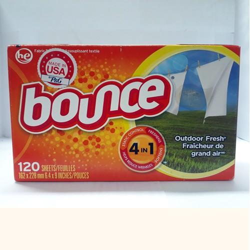 Giấy xả làm mềm vải Bounce Outdoor Fresh - Hộp 120 tờ