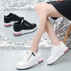 Giày ulzzang nữ màu trắng đế độn tăng chiều cao mẫu mới 2019