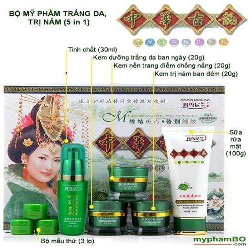 Bộ mỹ phẩm tắm trắng da mặt trị nám Hoàng Cung 5 in 1 - 5533820 , 11937612 , 15_11937612 , 440000 , Bo-my-pham-tam-trang-da-mat-tri-nam-Hoang-Cung-5-in-1-15_11937612 , sendo.vn , Bộ mỹ phẩm tắm trắng da mặt trị nám Hoàng Cung 5 in 1