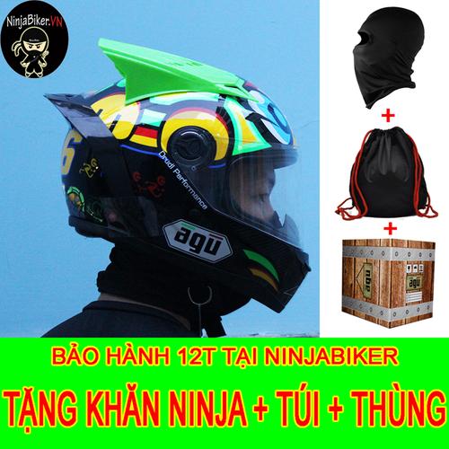 Nón bảo hiểm AGU rùa gắn đuôi gió và sừng TẶNG khăn ninja túi,thùng - 5538385 , 11942946 , 15_11942946 , 355000 , Non-bao-hiem-AGU-rua-gan-duoi-gio-va-sung-TANG-khan-ninja-tuithung-15_11942946 , sendo.vn , Nón bảo hiểm AGU rùa gắn đuôi gió và sừng TẶNG khăn ninja túi,thùng