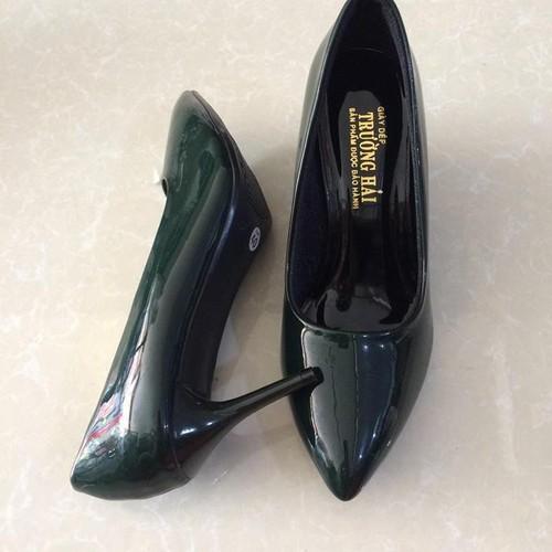 Giày cao gót 7cm Trường Hải xanh ngọc TH056