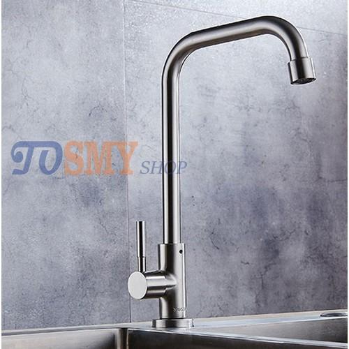 Vòi rửa chén, bát lạnh cần cứng số 7 phi 18  Inox 304 CLI01-1