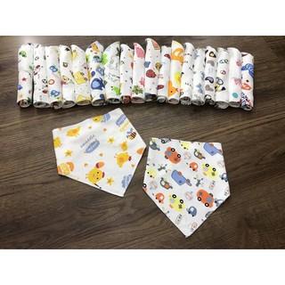 Yếm quàng cổ cotton hình tam giác -combo Sét 10 yếm - YEM85 thumbnail