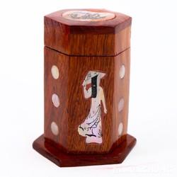 ỐNG  ĐỰNG TĂM khảm trai bằng gỗ HƯƠNG - LÀM QUÀ TẶNG Ý NGHĨA