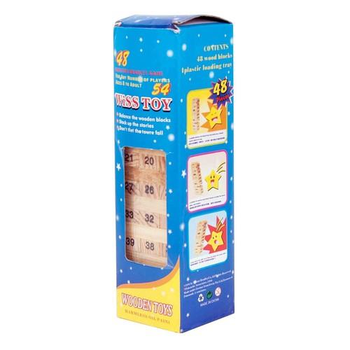 Bộ Đồ Chơi Rút Gỗ Wiss Toy 54 Thanh - Loại Nhỏ
