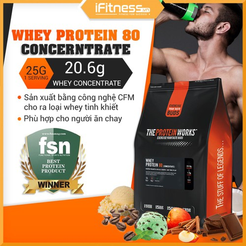 Sữa Tăng Cơ The Protein Works Whey Protein 80 Concentrate Vị Kẹo bơ - 4496662 , 11953496 , 15_11953496 , 690000 , Sua-Tang-Co-The-Protein-Works-Whey-Protein-80-Concentrate-Vi-Keo-bo-15_11953496 , sendo.vn , Sữa Tăng Cơ The Protein Works Whey Protein 80 Concentrate Vị Kẹo bơ