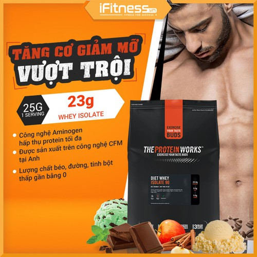 Sữa Tăng Cơ The Protein Works Diet Whey Isolate 90 - Vị Kẹo Bơ - 5544180 , 11950512 , 15_11950512 , 820000 , Sua-Tang-Co-The-Protein-Works-Diet-Whey-Isolate-90-Vi-Keo-Bo-15_11950512 , sendo.vn , Sữa Tăng Cơ The Protein Works Diet Whey Isolate 90 - Vị Kẹo Bơ
