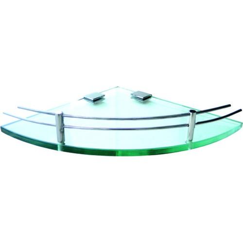 Kệ kính góc kính cường lực 10ly, thanh chắn Inox 304