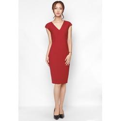 De Leah - Đầm Ôm Cổ Tim - Thời trang thiết kế