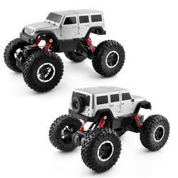 Siêu xe địa hình Rock Crawler màu bạc