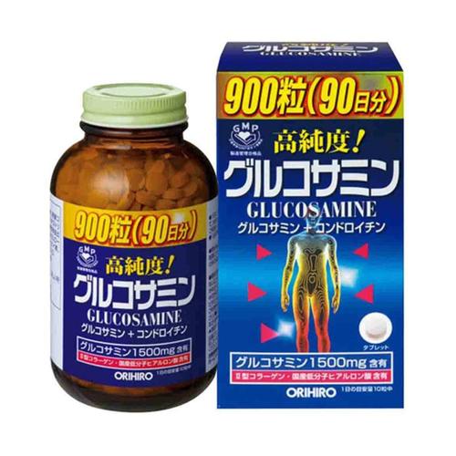 Viên uống bổ xương khớp Glucosamine Orihiro 900 viên Nhật Bản