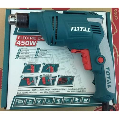 6.5MM MÁY KHOAN ĐIỆN CẦM TAY 450W TOTAL TD4506E