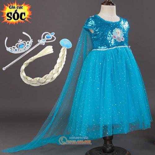 Váy Elsa - 4497205 , 11970286 , 15_11970286 , 255000 , Vay-Elsa-15_11970286 , sendo.vn , Váy Elsa