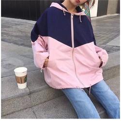 Áo khoác thể thao nữ, áo khoác dù nữ, áo khoác from rộng