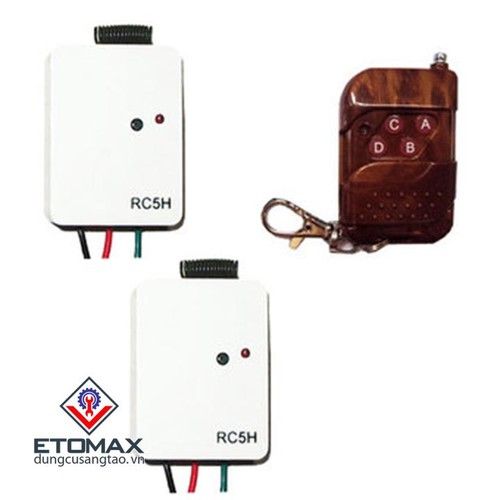 Bộ công tắc điều khiển từ xa TPE RC5H kèm remote - 5561271 , 11973984 , 15_11973984 , 170000 , Bo-cong-tac-dieu-khien-tu-xa-TPE-RC5H-kem-remote-15_11973984 , sendo.vn , Bộ công tắc điều khiển từ xa TPE RC5H kèm remote