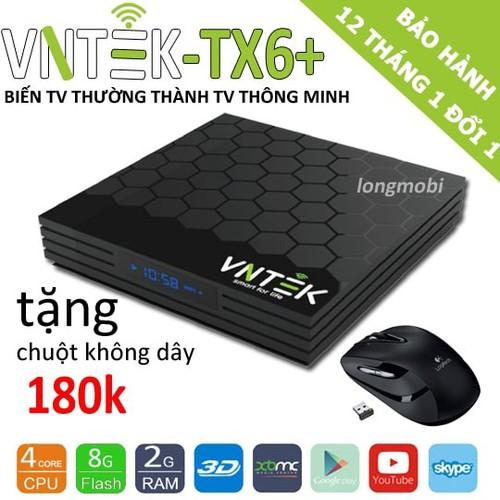 VNTEK TX6+ RAM 2GB,S905W, ANDROID 7.1.2 - Tặng chuột quang 180k - 5564794 , 11978631 , 15_11978631 , 1050000 , VNTEK-TX6-RAM-2GBS905W-ANDROID-7.1.2-Tang-chuot-quang-180k-15_11978631 , sendo.vn , VNTEK TX6+ RAM 2GB,S905W, ANDROID 7.1.2 - Tặng chuột quang 180k