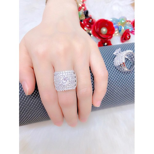 Nhẫn nữ đính xoàn xi dát bạch kim - 4497579 , 11980498 , 15_11980498 , 219000 , Nhan-nu-dinh-xoan-xi-dat-bach-kim-15_11980498 , sendo.vn , Nhẫn nữ đính xoàn xi dát bạch kim