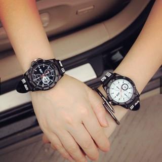 Đồng hồ cặp đôi màu trắng đen - Đồng hồ SPORT thumbnail