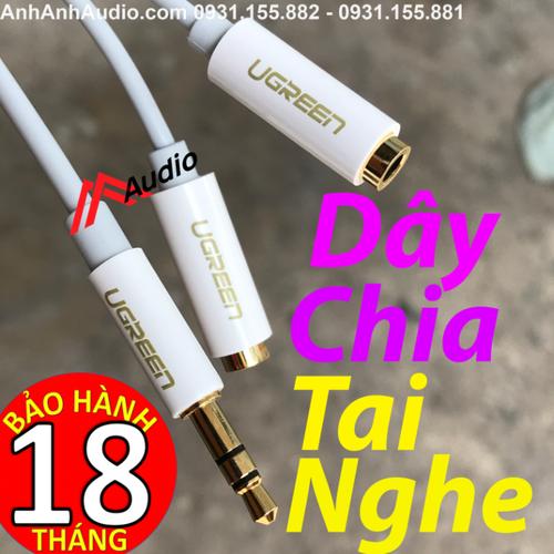 Chia Tai Nghe Ugreen Chính Hãng|Chia từ 1 ra 2 Jack 3.5 cắm tai nghe